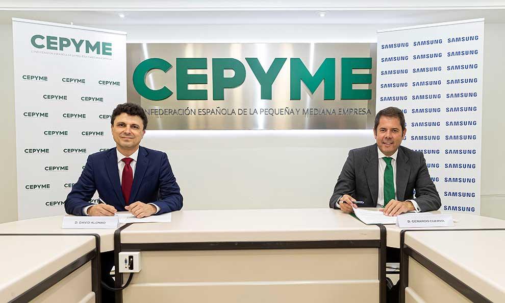 Samsung y CEPYME firman un acuerdo para impulsar la transformación digital en las empresas