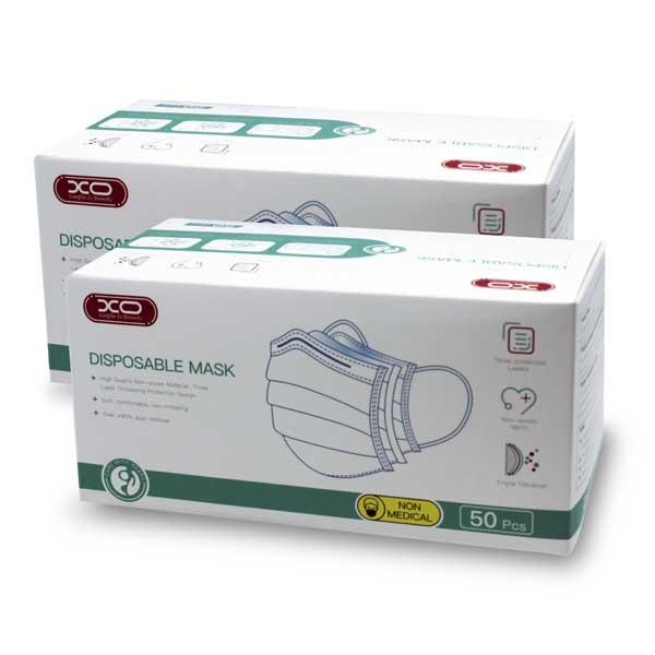 Mascarilla higiénica pack 2 cajas