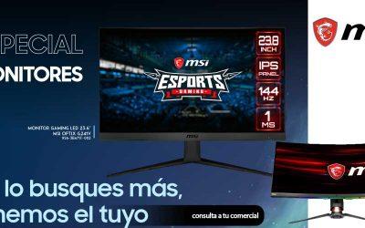 Selección de monitores gaming, hogar y oficina en Globomatik