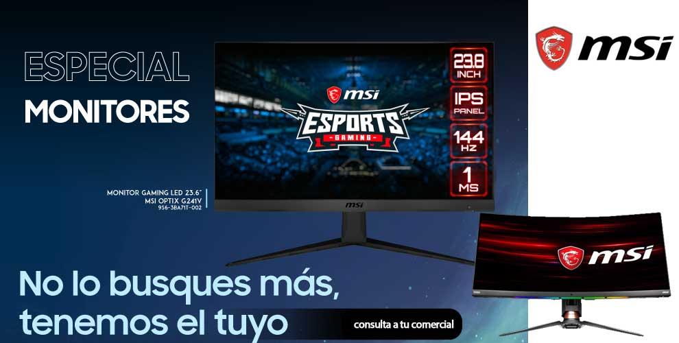 precios especiales en monitores gaming