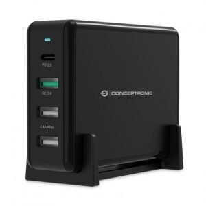 Conceptronic OZUL01B 4-PORT 65W USB PD DESKTOP CHARGER
